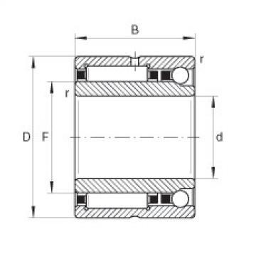 FAG إبرة الأسطوانة / الزاوي الاتصال الكرات - NKIA5907-XL