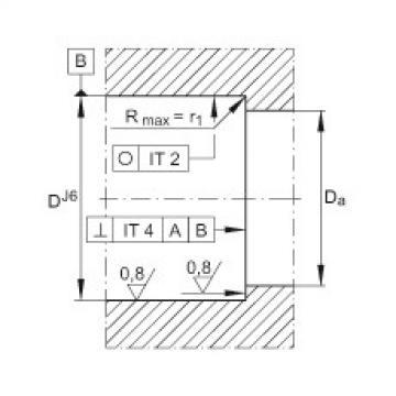 FAG محوري الزاوي الاتصال الكرات - ZKLF30100-2RS-XL