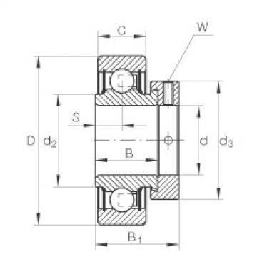 FAG شعاعي إدراج الكرات - RA104-NPP