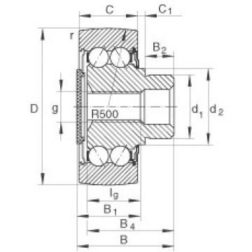 FAG مسمار نوع بكرات المسار - ZL5206-DRS