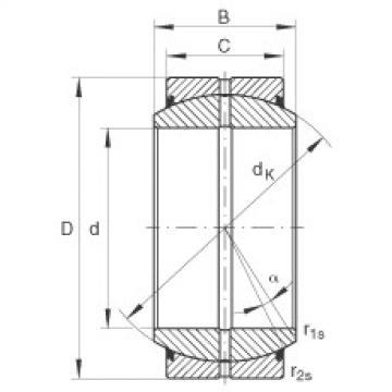 FAG Radial spherical plain bearings - GE35-DO-2RS