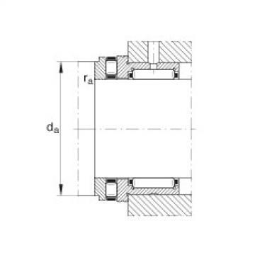FAG إبرة بكرة / محوري أسطواني محامل - NKXR30-XL