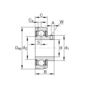 FAG شعاعي إدراج الكرات - GAY104-NPP-B-AS2/V