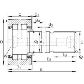 FAG مسمار نوع بكرات المسار - PWKR90-2RS-RR-XL