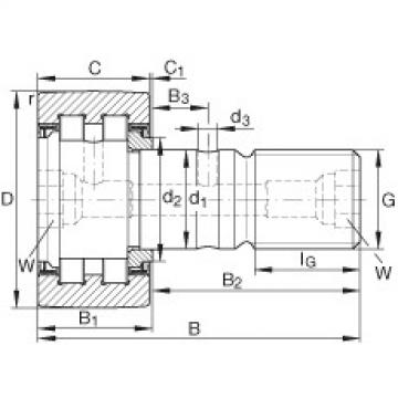 FAG مسمار نوع بكرات المسار - PWKR90-2RS-XL