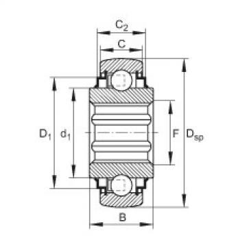 FAG Self-aligning deep groove ball bearings - SK106-208-KRR-B-L402/70