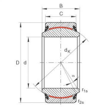FAG Radial spherical plain bearings - GE30-UK-2RS