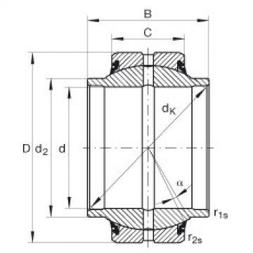 FAG Radial spherical plain bearings - GE35-HO-2RS