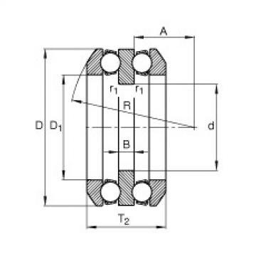 FAG محوري الأخدود العميق الكرات - 54307 + U307