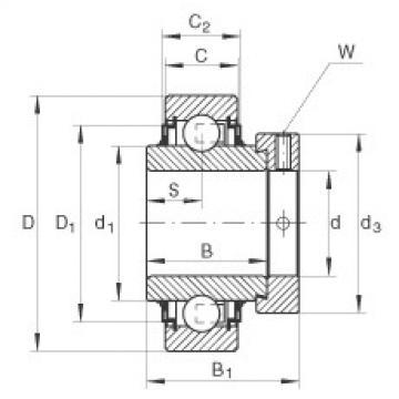 FAG شعاعي إدراج الكرات - E30-XL-KLL