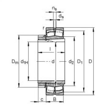FAG محامل كروية - 22308-E1-XL-K + H2308
