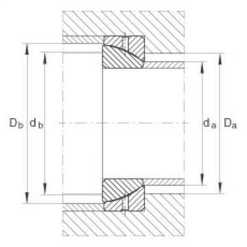 FAG Angular contact spherical plain bearings - GE30-SX
