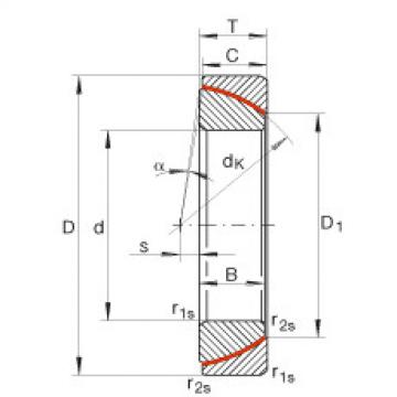 FAG Angular contact spherical plain bearings - GE30-SW