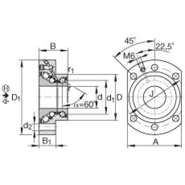 FAG Angular contact ball bearing units - DKLFA30100-2RS