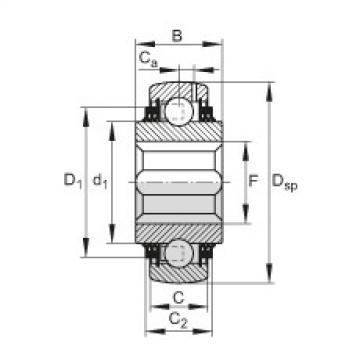 FAG Self-aligning deep groove ball bearings - GVKE30-211-KTT-B-AS2/V