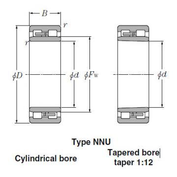 Bearings Tapered Roller Bearings NN3022K
