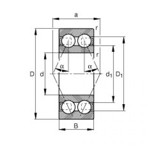 FAG الزاوي الاتصال الكرات - 3314-BD-XL #1 image