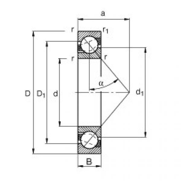 FAG الزاوي الاتصال الكرات - 7206-B-XL-MP #1 image