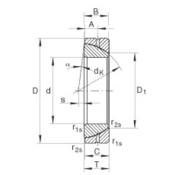 FAG Angular contact spherical plain bearings - GE30-SX #1 image