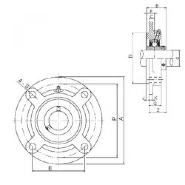 المحامل UCFC212 ISO #1 image